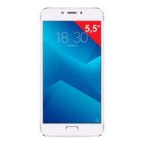 """Смартфон MEIZU M5 NOTE M621H, 2 SIM, 5,5"""", 4G, 5/<wbr/>13 Мп, 32 Гб, MicroSD, серебристый, металл"""