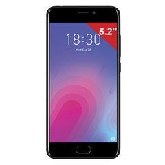 "Смартфон MEIZU M6 M711H, 2 SIM, 5,2"", 4G, 8/<wbr/>13 Мп, 16 ГБ, MicroSD, черный, пластик"
