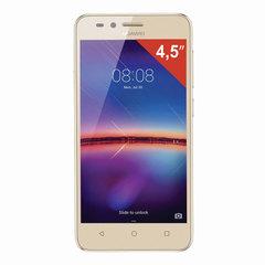 "Смартфон HUAWEI Y3 2017, 2 SIM, 5"", 3G, 2/<wbr/>5 Мп, 8 ГБ, MicroSD, золотой, пластик"
