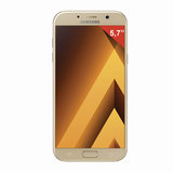 "Смартфон SAMSUNG Galaxy A7, 2 SIM, 5,7"", 4G (LTE), 16/<wbr/>16 Мп, 32 ГБ, microSD, золотой, сталь и стекло"