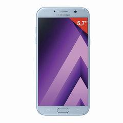 "Смартфон SAMSUNG Galaxy A7, 2 SIM, 5,7"", 4G (LTE), 16/<wbr/>16 Мп, 32 ГБ, microSD, голубой, сталь и стекло"