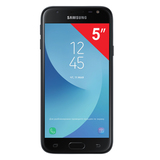 "Смартфон SAMSUNG Galaxy J3, 2 SIM, 5"", 4G (LTE), 5/<wbr/>13 Мп, 16 ГБ, microSD, черный, металл и стекло (2017)"