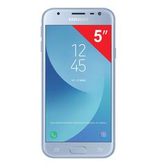 "Смартфон SAMSUNG Galaxy J3, 2 SIM, 5"", 4G (LTE), 5/<wbr/>13 Мп, 16 ГБ, microSD, голубой, металл и стекло (2017)"