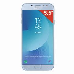 "Смартфон SAMSUNG Galaxy J7, 2 SIM, 5,5"", 4G (LTE), 13/<wbr/>13 Мп, 16 ГБ, microSD, голубой, металл и стекло (2017)"