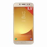 "Смартфон SAMSUNG Galaxy J7, 2 SIM, 5,5"", 4G (LTE), 13/<wbr/>13 Мп, 16 ГБ, microSD, золотой, металл и стекло (2017)"