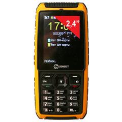 """Телефон мобильный SENSEIT P101, 2 SIM, 2,4"""", MicroSD, ударопрочный, водонепроницаемый, желтый"""
