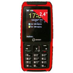 """Телефон мобильный SENSEIT P101, 2 SIM, 2,4"""", MicroSD, ударопрочный, водонепроницаемый, красный"""