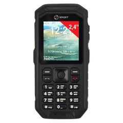 """Телефон мобильный SENSEIT P300, 2 SIM, 2,4"""", MicroSD, рация, ударопрочный, влагозащищенный, черный"""