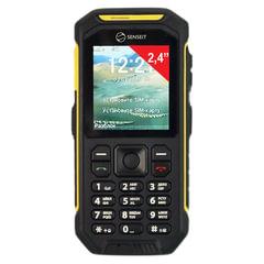 """Телефон мобильный SENSEIT P300, 2 SIM, 2,4"""", MicroSD, рация, ударопрочный, влагозащищенный, желтый"""