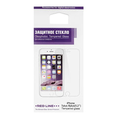 Защитное стекло для iPhone 7 Plus/<wbr/>8 Plus, RED LINE, УТ000009673