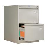 Шкаф картотечный ПРАКТИК «AFC-02», 710×466×631 мм, 2 ящика, для 100 подвесных папок, без папок
