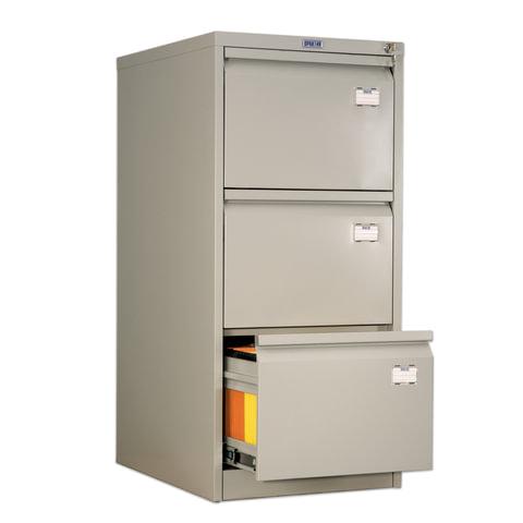 Шкаф картотечный ПРАКТИК «AFC-03», 1020×466×631 мм, 3 ящика, для 150 подвесных папок, без папок