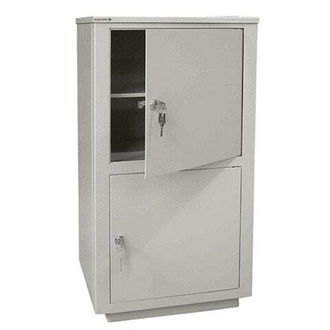 Шкаф металлический для документов НАДЕЖДА «ШМС-2», 890×464×409 мм, сварной, 2 отделения