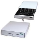 Ящик денежный для кассира «Меркурий 100.1», малый, 384×358×88 мм, отделений для монет -7, для купюр — 4
