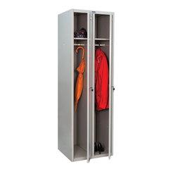 Шкаф металлический для одежды ПРАКТИК «LE-21C» (в сборе), двухсекционный, 1830×575×500 мм, 29 кг