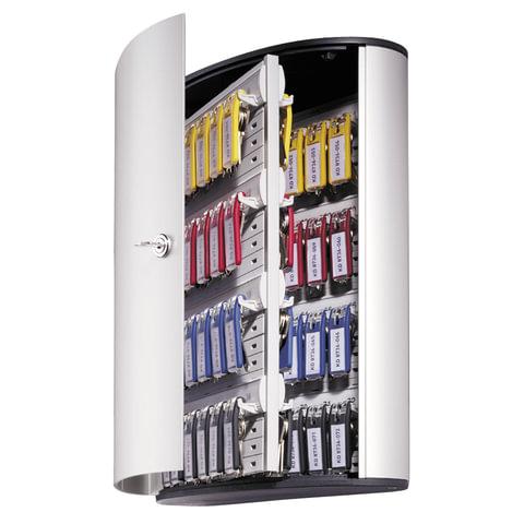 Шкафчик для ключей DURABLE (Германия) KEY BOX, 302x400x118 мм, на 72 ключа, +6 брелоков, серебристый