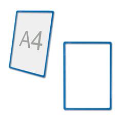 Рамка POS для ценников, рекламы и объявлений А4, синяя, без защитного экрана