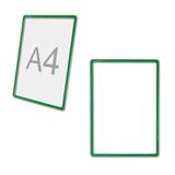 Рамка POS для ценников, рекламы и объявлений А4, зеленая, без защитного экрана