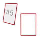 Рамка POS для ценников, рекламы и объявлений А5, размер 210×148,5 мм, красная, без защитного экрана