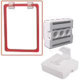 Держатель рамки POS магнитный, для крепления рамки параллельно поверхности, белый