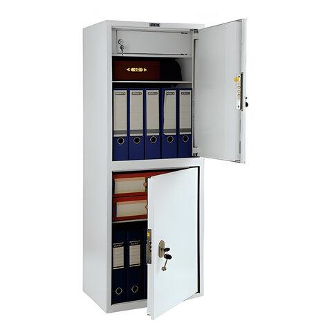 Шкаф металлический для документов ПРАКТИК «SL-125/<wbr/>2Т», 1252×460×340 мм, 33 кг, 2 отделения, сварной
