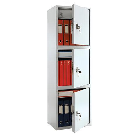 Шкаф металлический для документов ПРАКТИК «SL-150/<wbr/>3Т», 1490×460×340 мм, 3 отделения, 43 кг, сварной