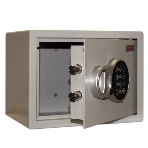 Сейф офисный (мебельный) облегченной конструкции Т23EL, 230×300×255 мм, 7 кг, электронный замок, крепление к стене, полу