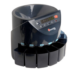 Счетчик-сортировщик монет CASSIDA C100, 250 монет/<wbr/>мин, загрузка 1600 монет, 8 приемных лотков