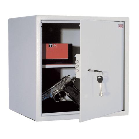 Сейф офисный (мебельный) облегченной конструкции AIKO «Т40», 401×400×356 мм, 19 кг, ключевой замок, крепление к стене, полу