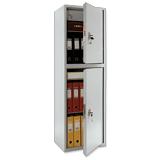 Шкаф металлический для документов ПРАКТИК «SL-150/<wbr/>2Т», 1490×460×340 мм, 2 отделения, 42 кг, сварной