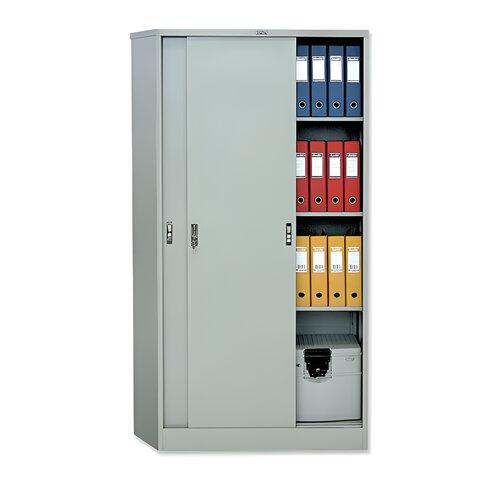 Шкаф металлический офисный КУПЕ NOBILIS «AMT-1891», 1830×915×458 мм, 53 кг, 3 полки, разборный