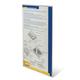 Подставка для рекламных материалов BRAUBERG (БРАУБЕРГ), А4, вертикальная, 210×297 мм, самоклеящаяся, настенная, оргстекло