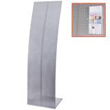Стойка для рекламных материалов напольная, без лотков, ПАРУС-2, 1600×455×360 мм, хром