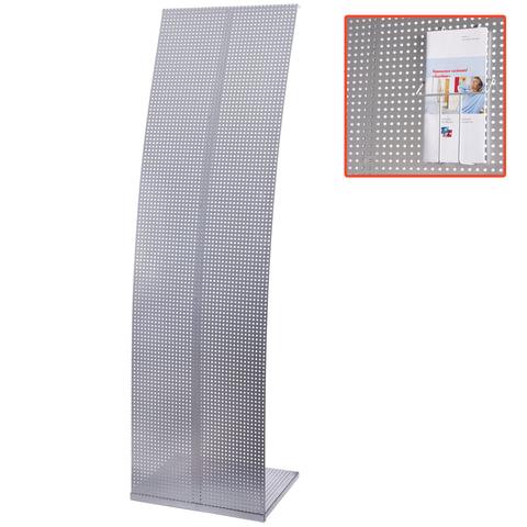 Стойка для рекламных материалов напольная, без лотков, ПАРУС-2, 1600х455х360 мм, хром