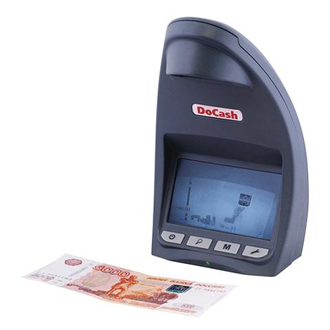 Детектор банкнот DOCASH LITE D, ЖК-дисплей 12 см, просмотровый, ИК-детекция, спецэлемент «М»