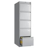 Шкаф картотечный ПРАКТИК «AFC-05», 1634×466×631 мм, 5 ящиков для 275 подвесных папок, без папок