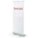 Стенд мобильный для баннера «Роллскрин 2(80)», размер рекламного поля 800×2000 мм, алюминий