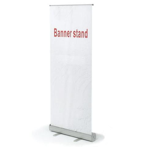 """Стенд мобильный для баннера """"Роллскрин 2(80)"""", размер рекламного поля 800х2000 мм, алюминий"""