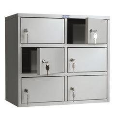 Шкаф кассира ПРАКТИК «AMB-45/<wbr/>6» на 6 отделений, 545×600×330 мм, ключевые замки, собранный