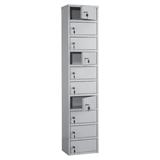 Шкаф кассира ПРАКТИК «AMB-140/<wbr/>10» на 10 отделений, 1400×300×220 мм, ключевые замки, собранный