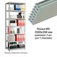 Полки MS (ш1000хг300 мм), КОМПЛЕКТ 7 шт. для металлического стеллажа, фурнитура в комплекте