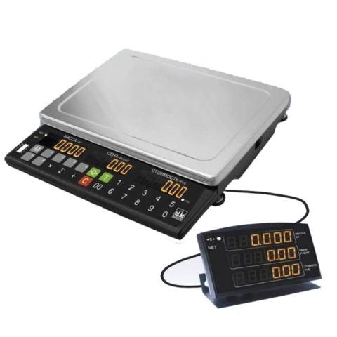 Весы торговые МАССА-К МК-32.2-Т21 (0,1-32 кг), дискретность 10 г, платформа 340×245 мм, переносной дисплей