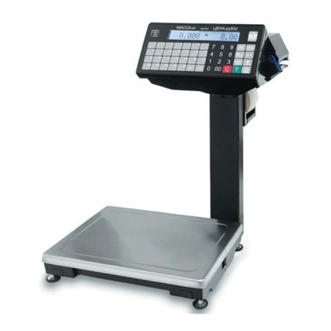 Весы с печатью этикеток МАССА-К ВПМ-15.2-Ф (0,04-15 кг), дискретность 5 г, платформа 340×245 мм, со стойкой
