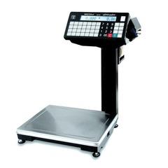 Весы с печатью этикеток МАССА-К ВПМ-32.2-Ф (0,1-32 кг), дискретность 10 г, платформа 340×245 мм, со стойкой