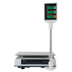 Весы торговые MERCURY M-ER 327P-32.5 LCD (0,1-32 кг), дискретность 5 г, платформа 325×230 мм, со стойкой