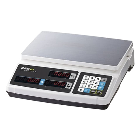 Весы торговые CAS PR-15B (0,04-15 кг), дискретность 5 г, платформа 320х210 мм, без стойки