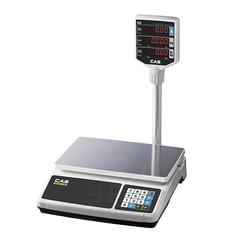 Весы торговые CAS PR-15Р (0,04-15 кг), дискретность 5 г, платформа 320×210 мм, со стойкой