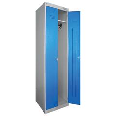 Шкаф металлический для одежды «ШРЭК-22-530», двухсекционный, 1850×530×500 мм, разборный