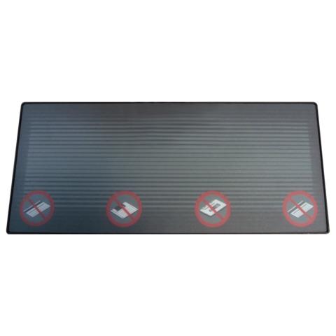 Деактиватор-коврик для акустомагнитных этикеток,12×28 см, контактный, черный