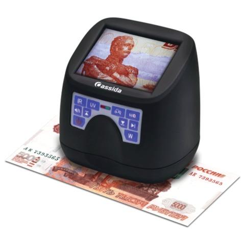 Детектор банкнот CASSIDA MFD1, ЖК-монитор 7,6 см, УФ -, ИК-детекция, антистокс-эффект